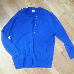 J.Crew Royal Blue Cardigan